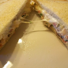 Chicken Bacon Ranch Salad Sandwiches