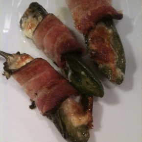 Bacon Wrapped Roasted Jalapeno Poppers