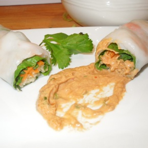 Fresh Spring Rolls With Thai PeanutSauce