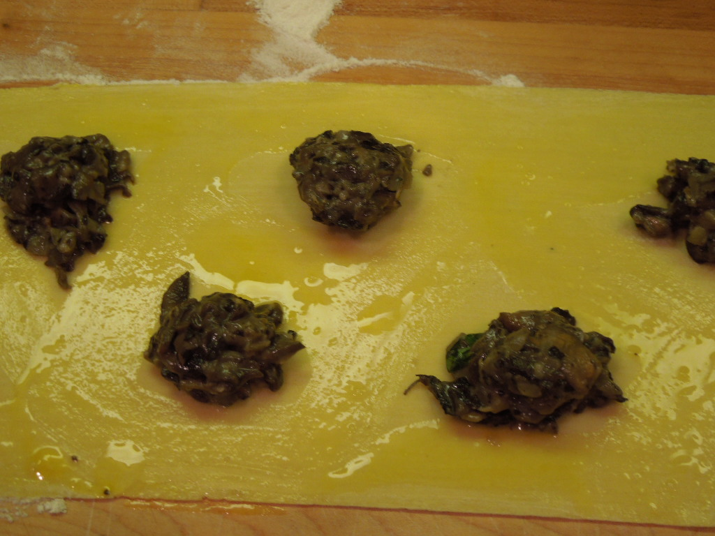 Homemade Mushroom Ravioli Three Ways With Creamy Garlic White Wine ...
