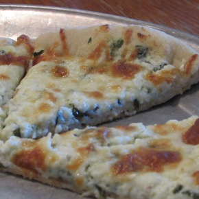 White Pizza with Ricotta and FetaCheese