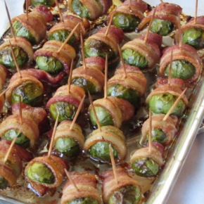 Bacon Wrapped Roasted BrusselsSprouts