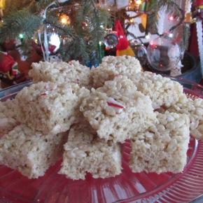 Candy Cane Rice KrispieTreats