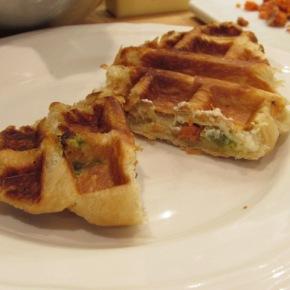Waffle Wednesday – Spicy, Creamy, Smoked SalmonCroisaffle