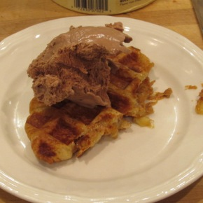 Happy National Waffle Day –Peanut Butter, Banana and Marshmallow Croisaffle Rocky Road a lamode