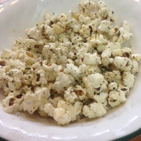 Homemade Pizza Flavored Popcorn
