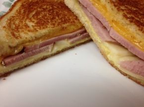 Fast Food Friday: Ham and Honey Mustard Grilled Cheese