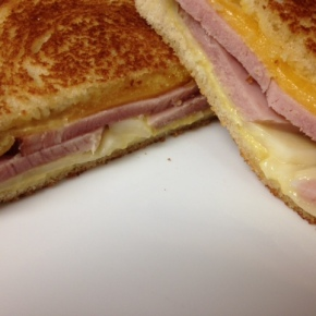 Fast Food Friday: Ham and Honey Mustard GrilledCheese