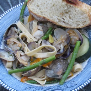 Clams Linguine Primavera