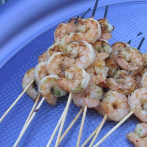 Trish's Lime Bang Shrimp Skewers