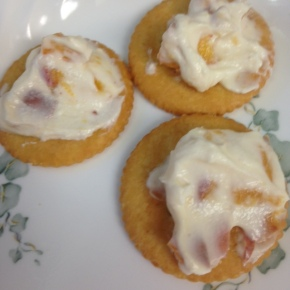 Fast Food Friday: Fresh Peaches and GoatCheese