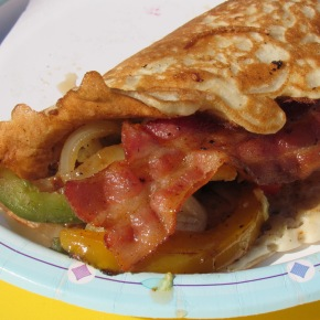 The Ultimate Tailgate Brunch Pancake Taco