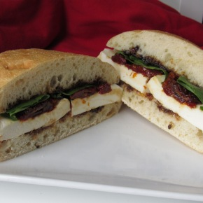 Marinated Mozzarella Sandwich